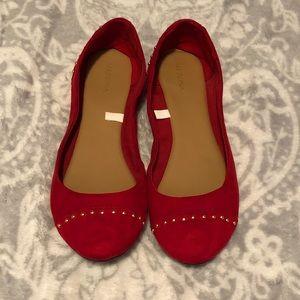 Merona Brand Red Velvet Flats